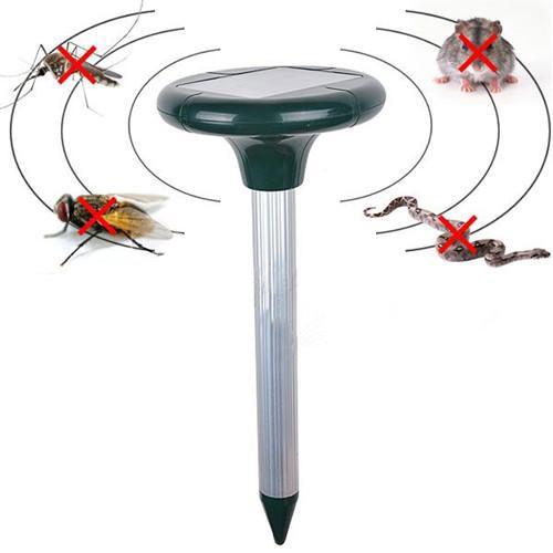 Solar Power Ultrasonic Gopher Mole Snake cat bird mosquito Mouse ultrasonic Pest Repeller Control Garden Yard(China (Mainland))