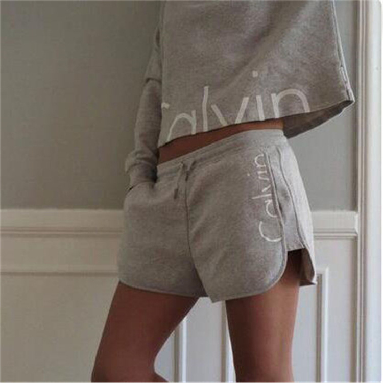 2016 Spring Summer Long Sleeve Jogging Suits for Women Hoodies Sweatshirt+ Short Pant 2 Piece set Women Tracksuit Casual suit(China (Mainland))