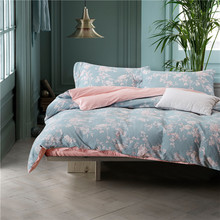 4pcs duvet cover double bed king queen bedding flower bed clothes pink bedding sheet pillowcase Egyptian cotton bedding sets(China (Mainland))