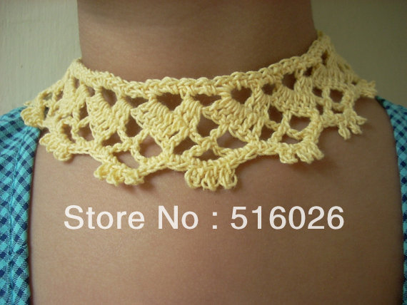Crochet lace necklace, bridal,  victorian lace jewelry, sexy, wedding, party accessories, color can be chosen 8 pcs/lot