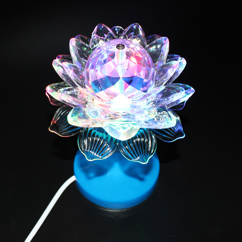 Wholesale  Colorful Lights Rotating Lights Led Home Party KTV  Bar Flash Lotus Lamp Crystal Ball Stage Lighting <br><br>Aliexpress