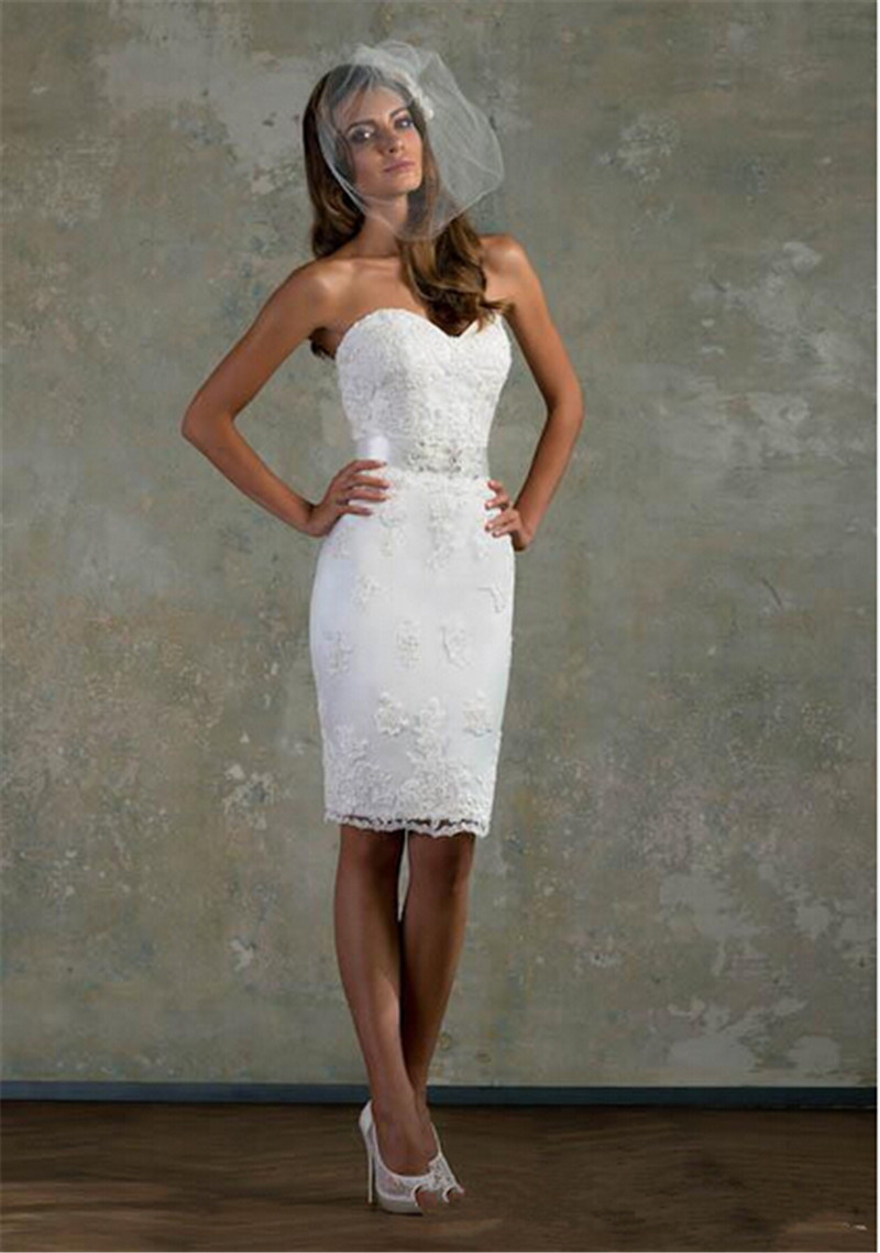 Wedding Dresses   Us : Sheath lace wedding dresses off the shoulder modern