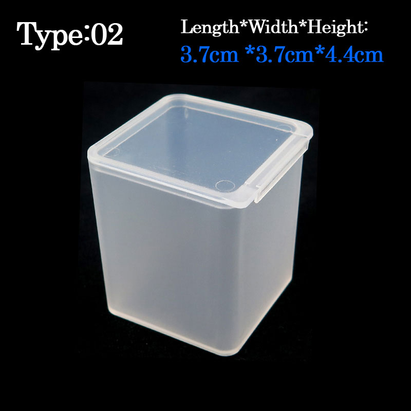 10pcs/pack 3.7cm*3.7cm*4.4cm Plastic Fishing tackle Box High Strength Transparent Visible Pocket fly box for Fishing Accessaries(China (Mainland))