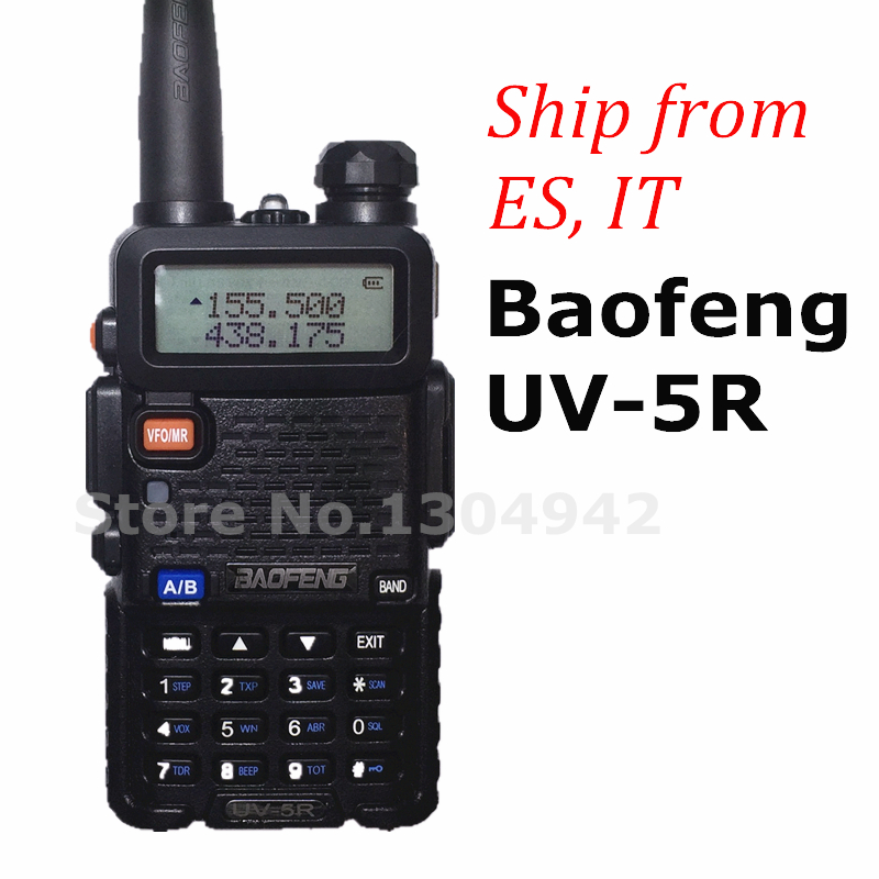 BAOFENG UV-5R walkie talkie BLACK VHF UHF Portable CB radio transceiver baofeng uv 5r 5W Dual Band amateur two way radio(China (Mainland))