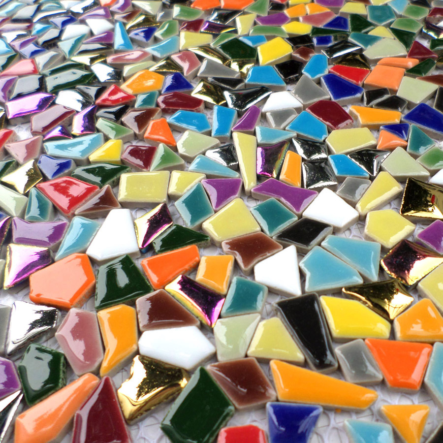 rainbow colorful ceramc mosaic irregular shaped seven color for bathroom shower mosaic kitchen backsplash wall floor tiles(China (Mainland))