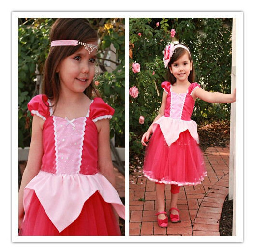 Girls Cosplay Costume Cinderella Princess Party Performances Dress Christmas Costumes Red dress - shuang wang's store