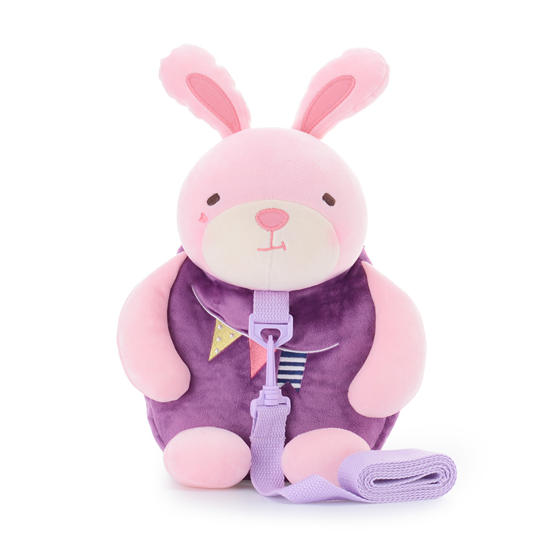 Metoo New Baby Leashes Cartoon Bunny Safety Harness Anti lost Rabbit Backpack Strap Walker Baby Bags 26*25cm