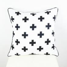 45*45 cm  Black White  Swiss Cross Decorative Throw Cushion Cover Pillow Case for Bedding Sofa almofadas decorativas(China (Mainland))