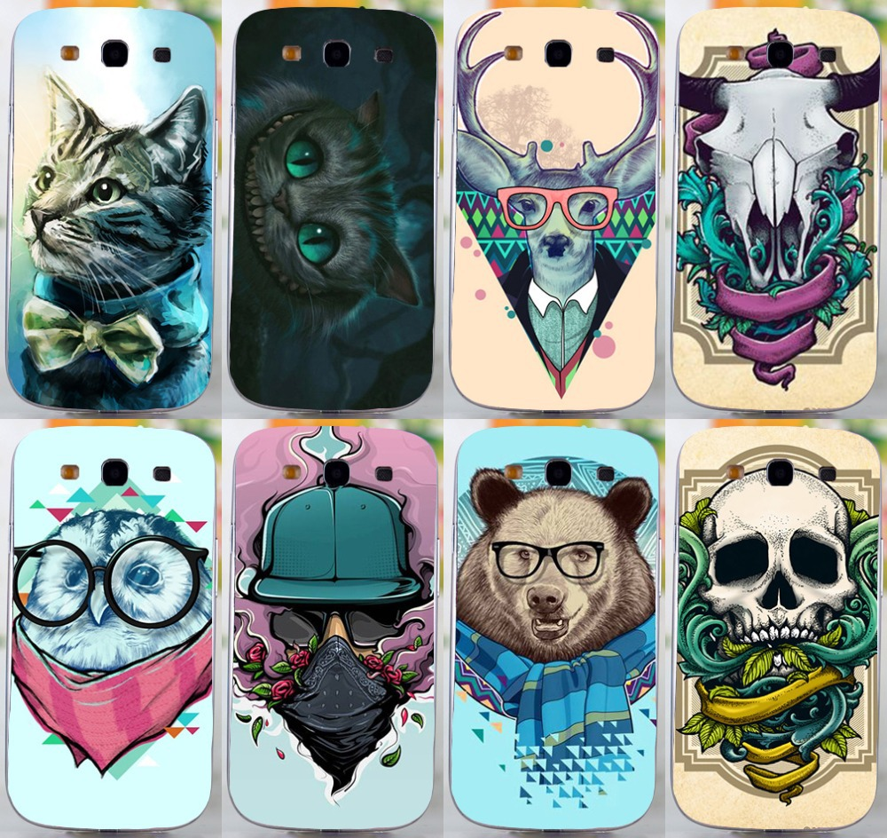 Cool Colorful Cartoon Animal mult-styles pattern hard back cover case For Samsung galaxy s3 i9300 phone case freeshipping(China (Mainland))