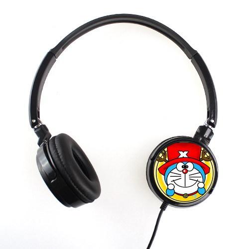 hot sale comfortable fashion Earphones Dorami cartoon Headphone Free Shipping(China (Mainland))