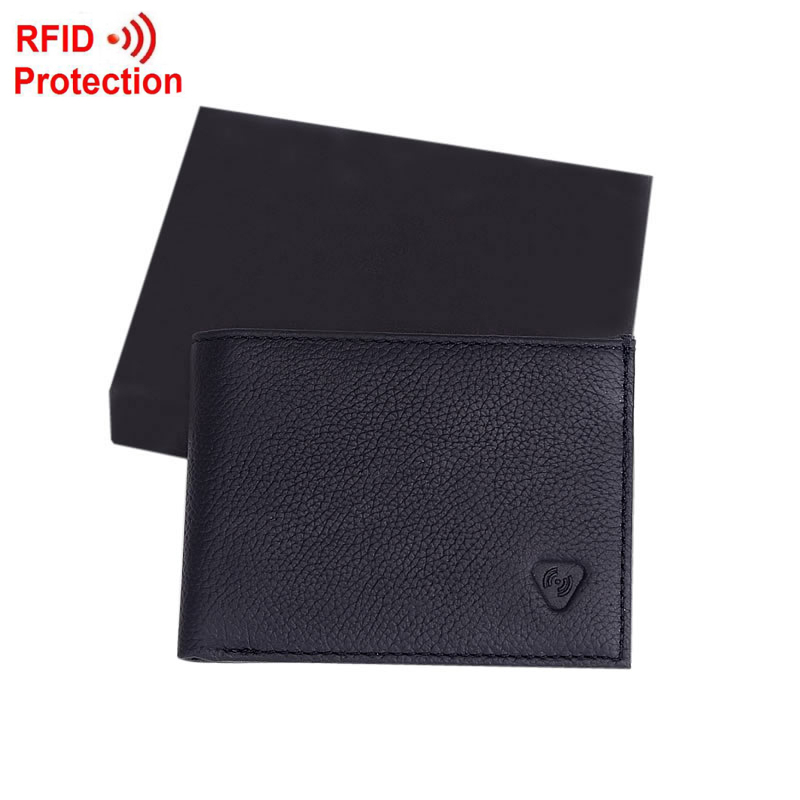 MRF5 NEW new stylish RFID BLOCKING Men wallet+ genuine cow Leather + Bifold Purse with coin pocket+ RFID protection(China (Mainland))