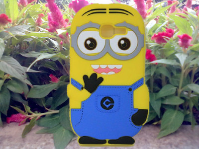 3D Despicable 2 Minions Soft Silicone Back Cover Case Samsung galaxy trend lite s7390 S7392 - Fashion Store( store)