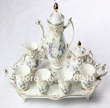 Free Shipping 8PCS Bone China TEA COFFEE SET PORCELAIN DINNER SET TABLEWARE CREAMIC KICTHEN WARE SET