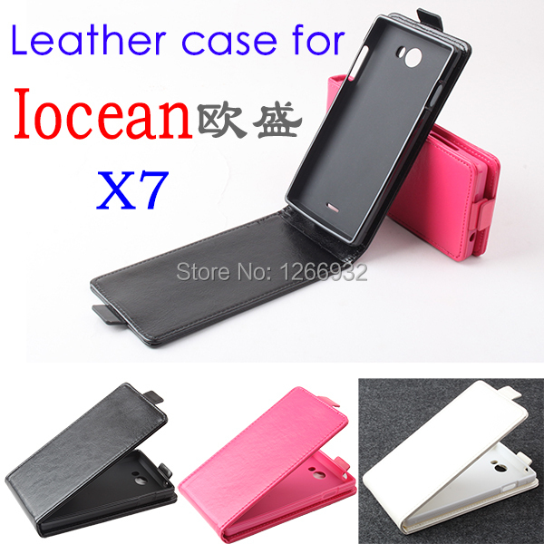 For Iocean X7 Leather Flip Vertical Case Cover Smartphone Old School Phone Bag case For Iocean X7 Vertical Flip Cover Book Case(China (Mainland))