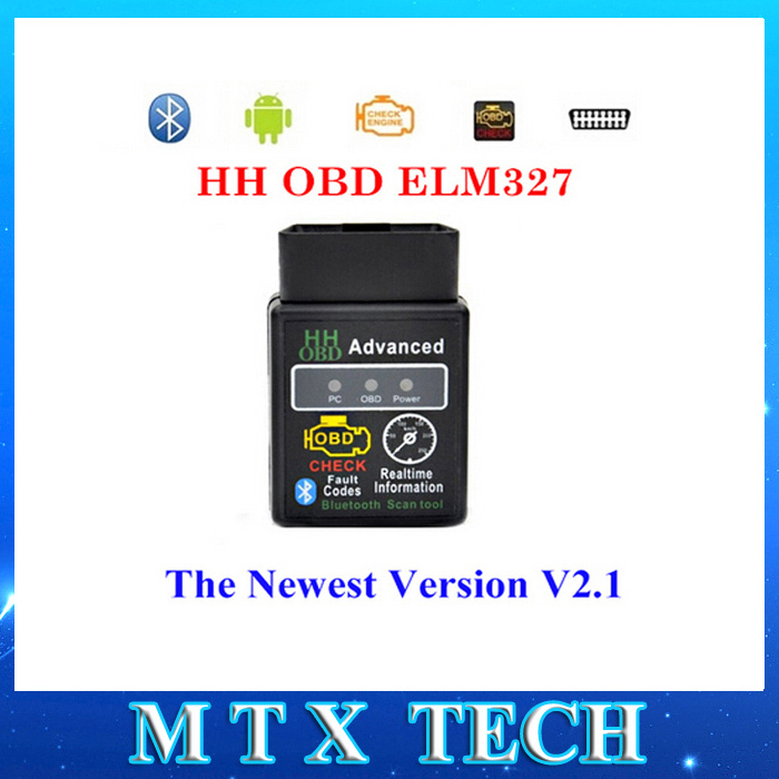 Mini HH ELM 327 Bluetooth OBD2 diagnostic tool CAN BUS ELM327 Switch Works on Android Symbian Windows Free shipping(China (Mainland))