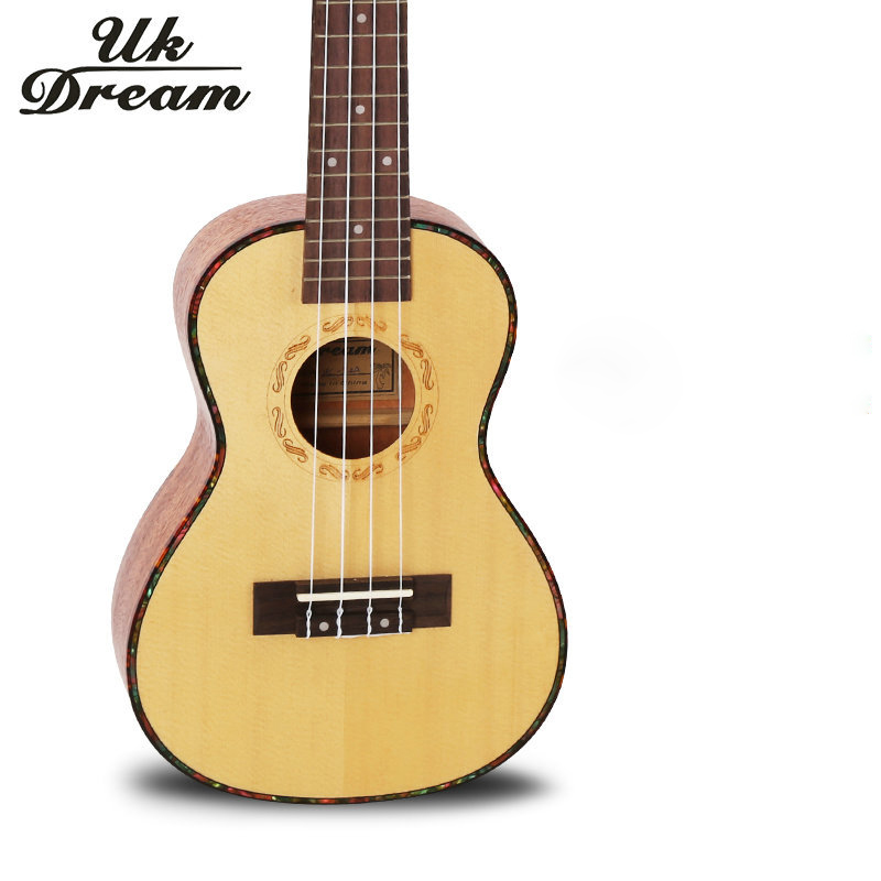 Acoustic Guitar 17 Frets 23 Inch New Arrival Vintage Musical Instruments 4 Strings Guitar Spruce Mahogany Veneer UC-54A(China (Mainland))