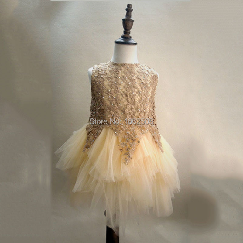 girl dress summer chiffon tutu lace flower princess dress kids party dresses for teenage girls clothing