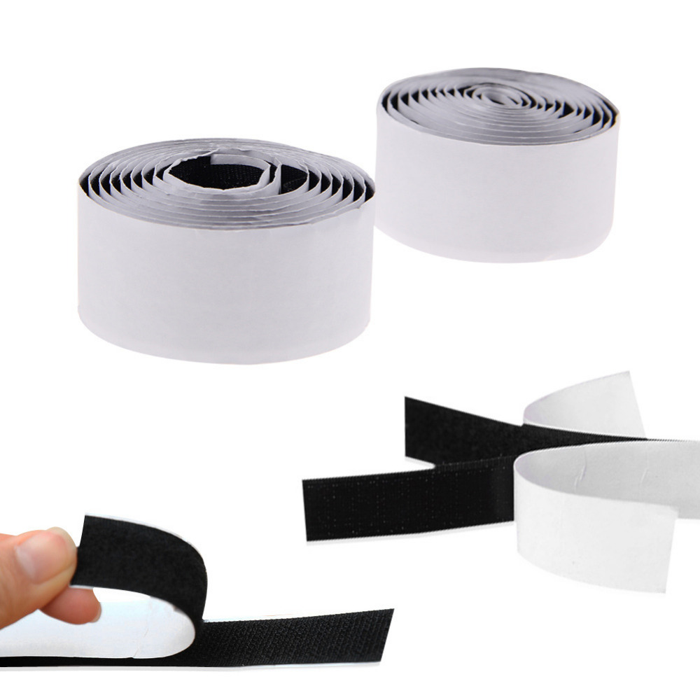 2 Rolls Strong Self Adhesive Hook Loop Tape Fastener Sticky 1M Kits FREE SHIPPING<br><br>Aliexpress