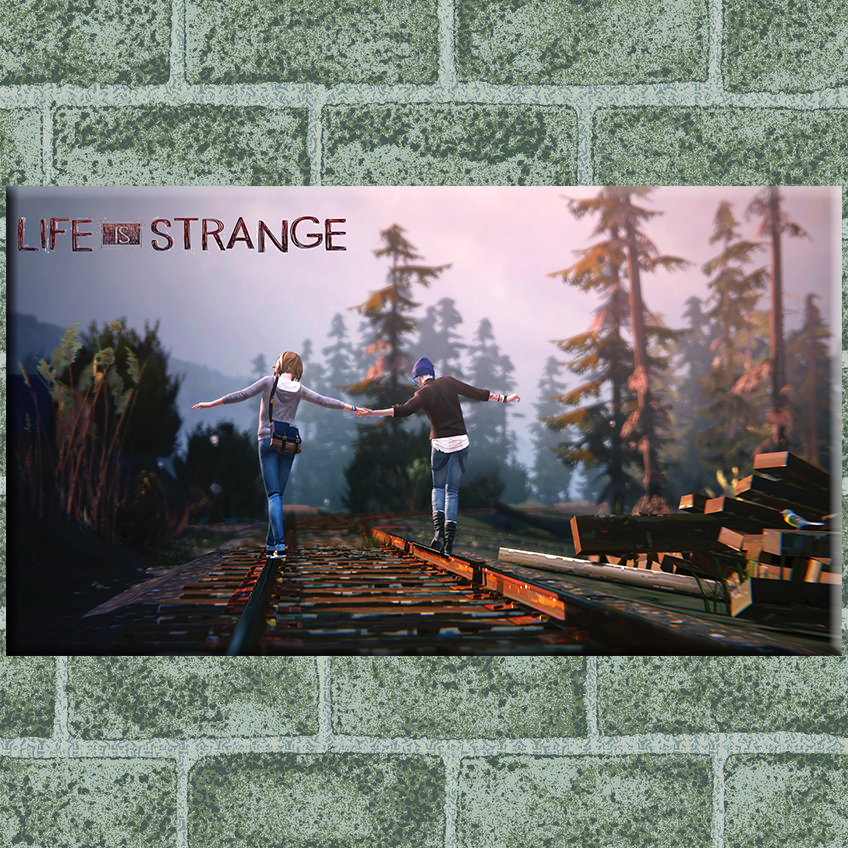 Life is strange walk railway canvas painting pictures on the wall Oil Paintings home decorations posters and prints wall art(China (Mainland))