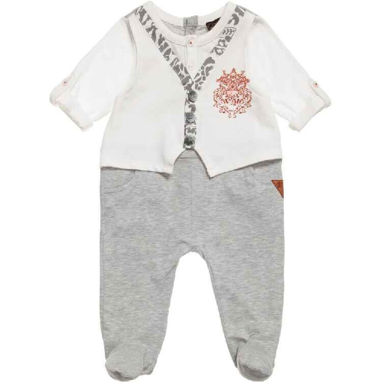 New Fashion 100%Cotton One-piece Romper Long-sleeve Baby Footies Newborn Baby Boy Coverall<br><br>Aliexpress