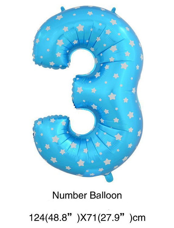 Pink Blue Star Heart Dot Number Helium Air Balloons Wedding Birthday Party Decorations Inflatable Baloes Number