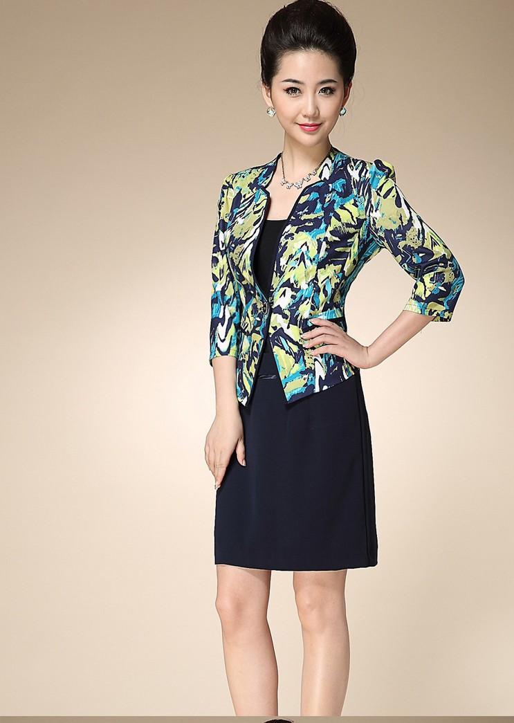 Short sleeve jacket dresses