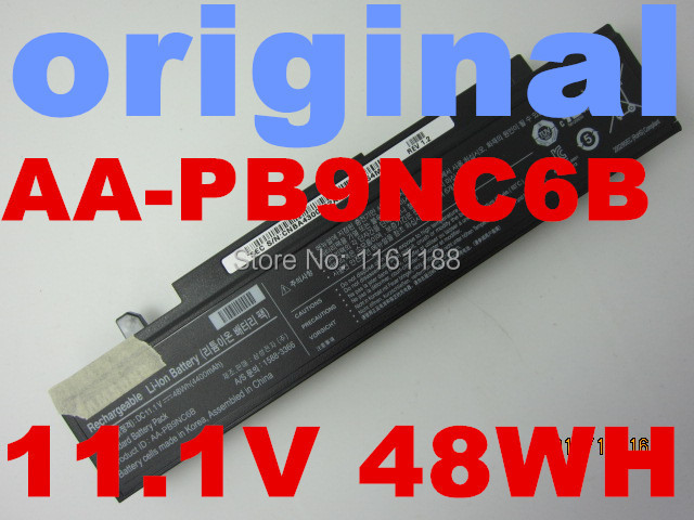 original laptop battery 11.1V 44WH For Samsung AA-PB9NC5B AA-PB9NC6B AA-PB9NC6W AA-PB9NS6B AA-PL9NC2B AA-PL9NC6W R728 R730 R780(China (Mainland))