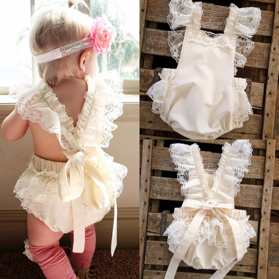 0-2 Years,SO-buts Toddler Newborn Infant Baby Girls Cotton Line Summer Lovely Ruffles Ruches Solid Color Romper Bodysuit Jumpsuit Clothes