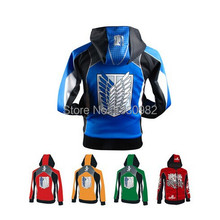 anime attack on titan jacket men cosplay hoodies men fashion fleece sweatshirts (China (Mainland))