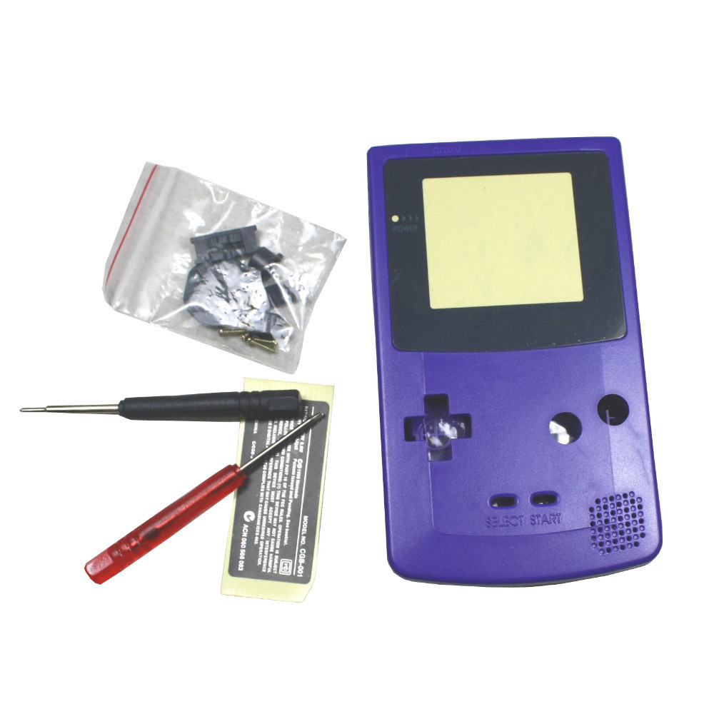 Purple Full Housing Shell Case Cover Replacement for Nintendo GBC Gameboy Color Console<br><br>Aliexpress