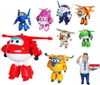 15CM Super Wings Big size Planes Transformation robot Action Figures Toys super wing Mini Jett toy For Christmas gift-50(China (Mainland))