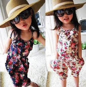 5pcs/lot baby girls jumpsuits flower overalls suspender pants children summer clothing ZZ0015<br><br>Aliexpress