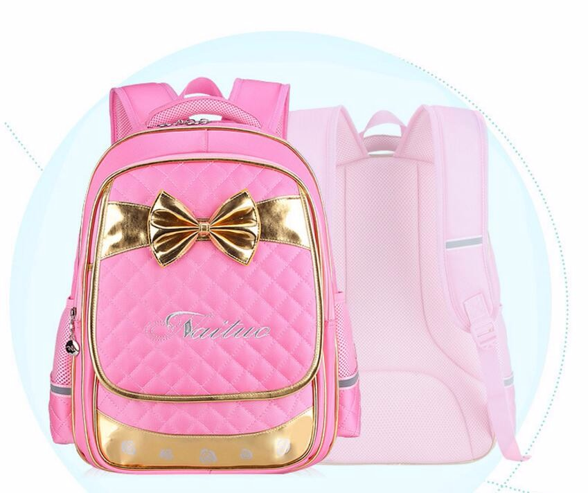 High Quality Lovely Princess  Children School Bags Kids Backpacks Primary Girls Reflective School Backpack Waterproof Bag