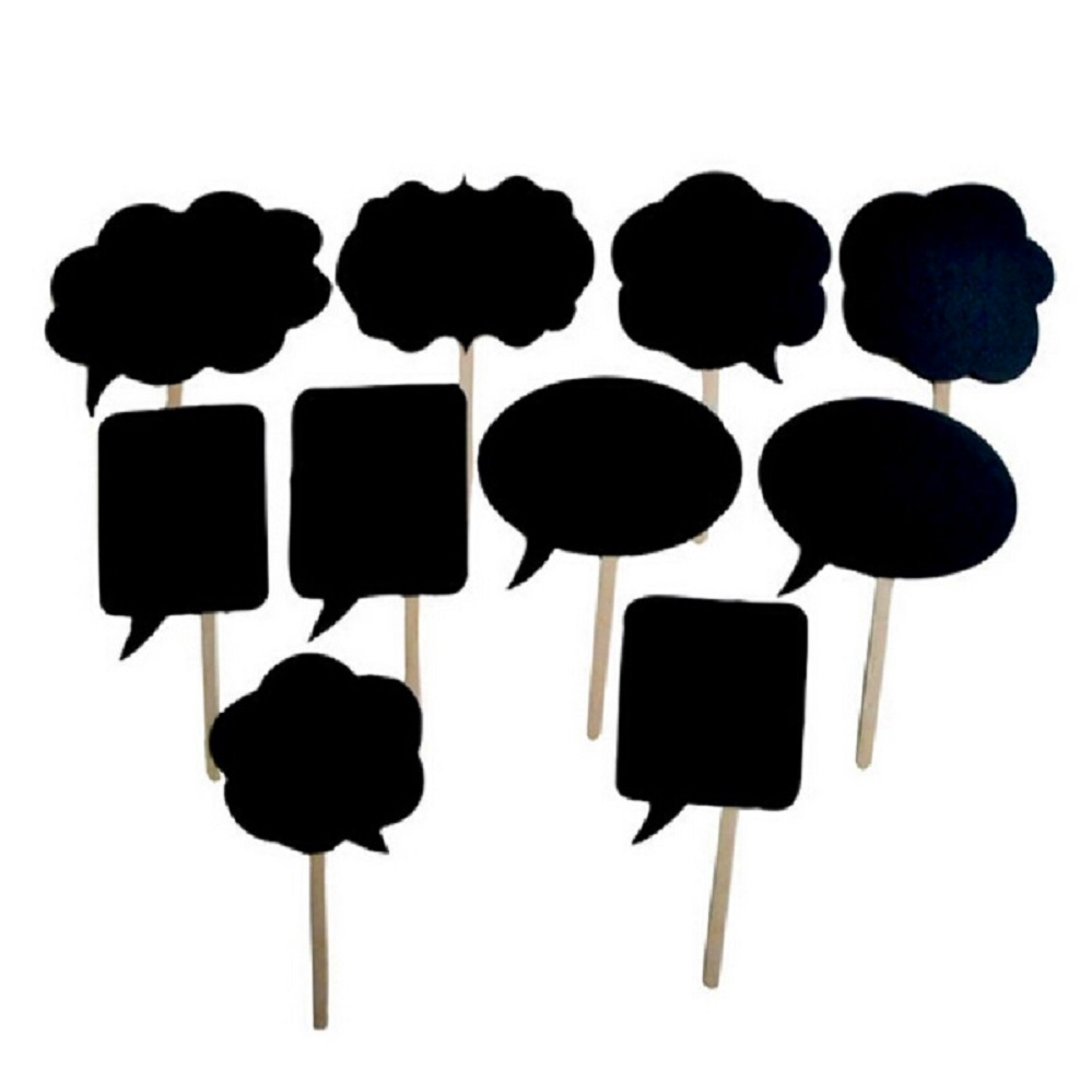 Photo Booth 10Pcs/Lot 2016 New Thought Bubble PhotoBooth Props Wedding Favors Decoration Birthday Party Black Card Board Sticker(China (Mainland))