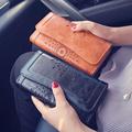 2017 New Women Wallet Oil Wax Large Capacity Purse Handbag Retro Hollow Fashion Bag Leisure High