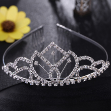 Princess Hair Jewelry Bride Queen Crown Women Tiara Hair Pins Tiaras and Crowns Rhinestone Accessories Bijoux Cheveux N094