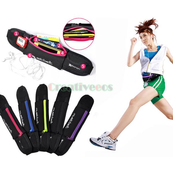 Unisex Neoprene Waterproof Anti-theft Slim Sports Travel Cycling Jogging Running Cell Phone Chest Hip Bum Waist Fanny Pack Bag(China (Mainland))