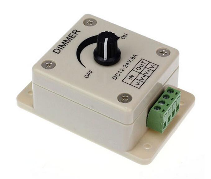 New Arrival DC12V~24V 8A LED Switch Dimmer Controller for 3528&5050 Led Strip(China (Mainland))