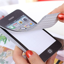 X10 Pieces/lots Iphone Sticky Notes Cute Kawaii Memo Pad Stickers