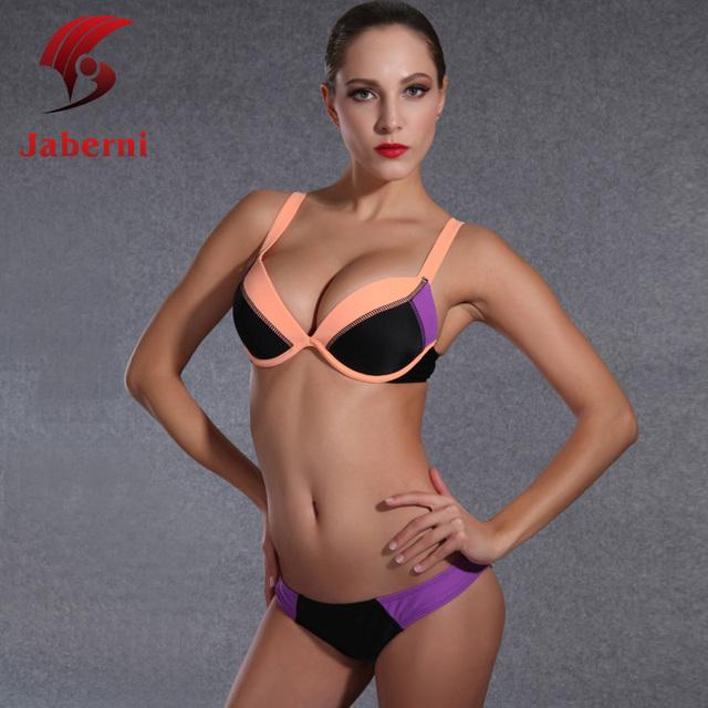 Контрастность сексуальное кот бикини лоскутное сексуальные женщины купальники росту 2 шт. девушки мода пляж купальник