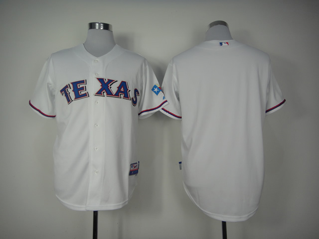Lower Price Mens Texas Rangers Jersey Blank White Baseball Jersey ,embroidered Logo,accept retail mixed order