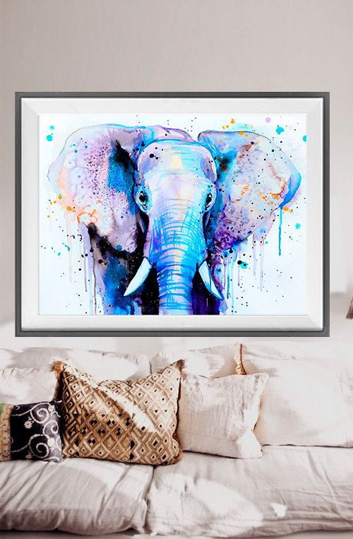 free shipping Elephant oil painting on canvas home abstract oil painting canvas paints Wall Art decoration picture G-451(China (Mainland))