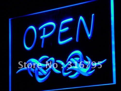 j253-b OPEN Tattoo Shop Display Bar LED Neon Light Sign(China (Mainland))