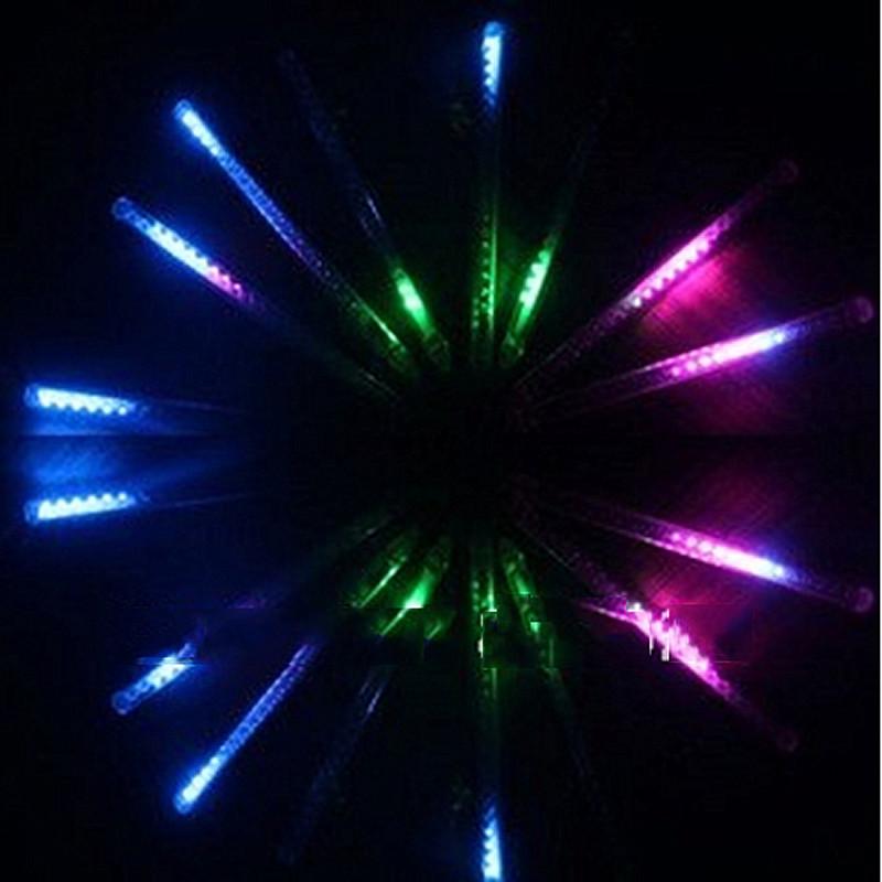 Waterproof 96 led 8 tudes 20cm LED christmas light LED Snow fall raining tube meteor light(China (Mainland))