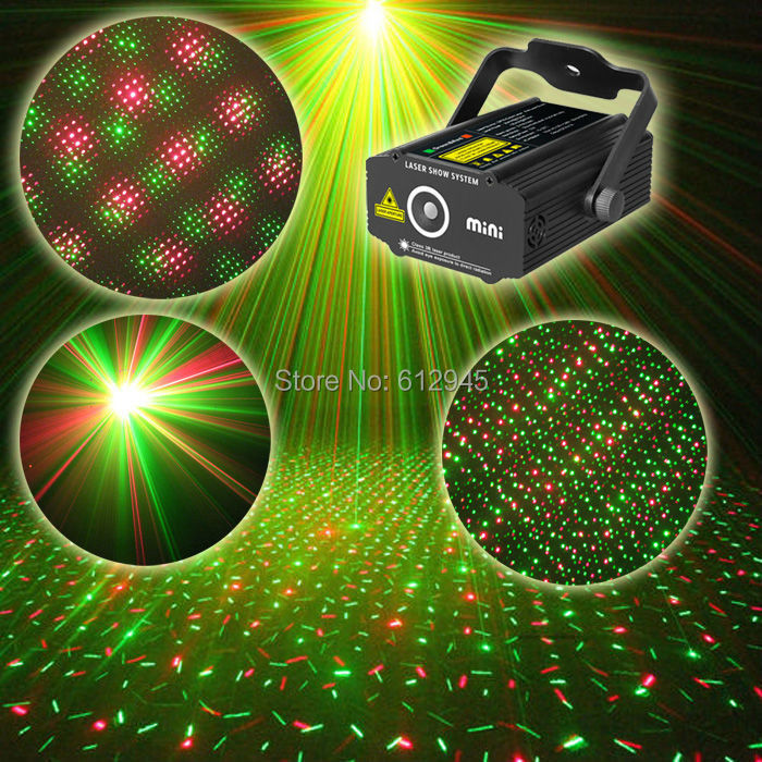 Quality Guaranteed New Black Mini laser Projector Holographic Star Stage mini Laser light effect DJ Disco party outdoor lighting(China (Mainland))