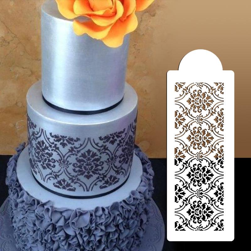Wedding Cake StencilPlastic Cookie Cake Stencil Fondant Cake ToolDecoration For Cake Wedding