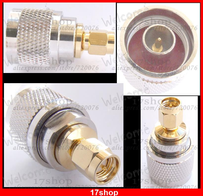 10PCS N male to SMA male plug straight adapters Copper N-SMA-JJ<br><br>Aliexpress
