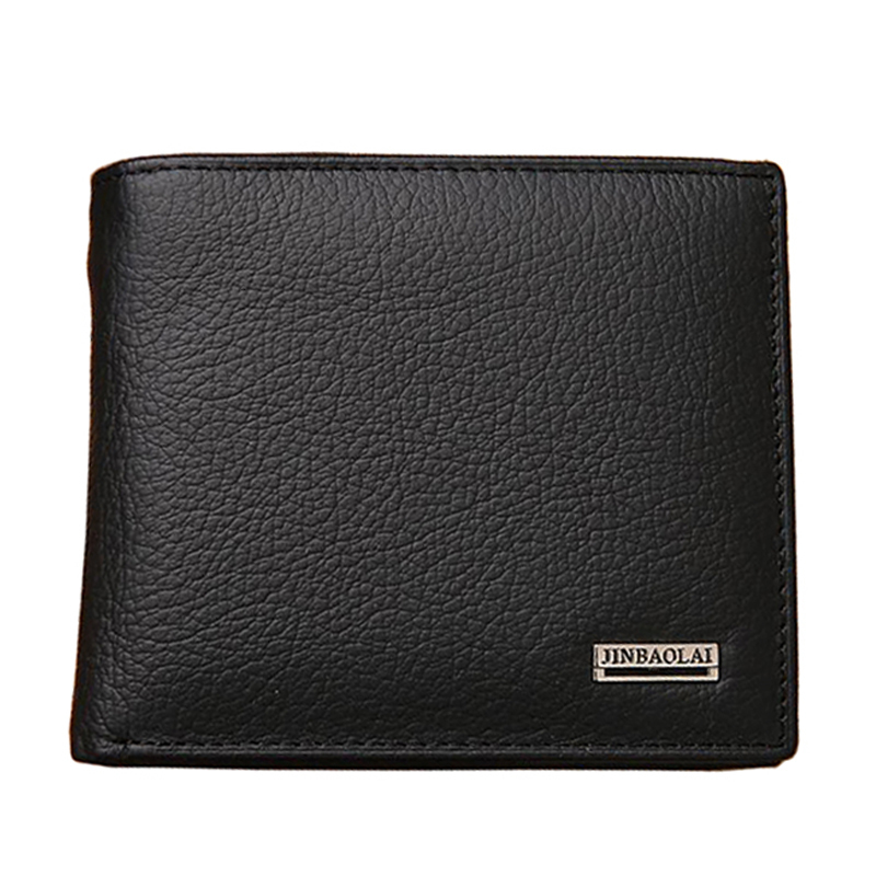 Fashion New Genuine Leather Men Wallets Brand Quality Black Brown Coin Pocket Purse ID Credit Card Holder Wallet Free Shipping(China (Mainland))