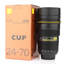 Camera lens mug 350-400ML Lens Cup Stainless Steel Insulated Tumbler (Modeling Nikon AF-S NIKKOR 24-70mm f/2.8G ED) Coffee mug(China (Mainland))