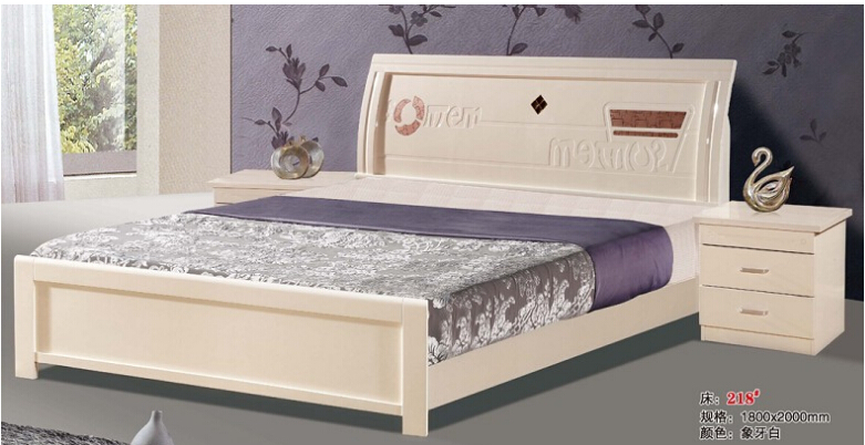high quality bed Oak Bedroom furniture bed solid wood bed 6752(China (Mainland))